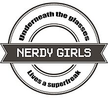 Nerdy Girls Photographic Print