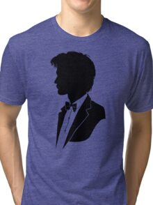 Doctor Who Silhouette Tardis copy Tri-blend T-Shirt
