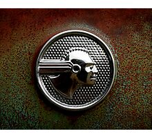 Abandoned 1952 Pontiac Chieftain Emblem Photographic Print