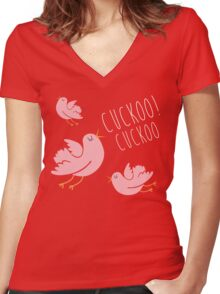 cuckoo birds Women's Fitted V-Neck T-Shirt