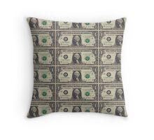 United States Dollar Bills Throw Pillow