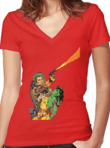 Man O Mars Women's Fitted V-Neck T-Shirt