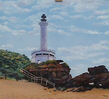 Point Lonsdale Lighthouse.Vic.    Oil on Canvas 60 x 51cm by Rita Blom