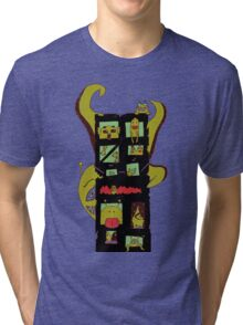 Monster Building by Lolita Tequila Tri-blend T-Shirt