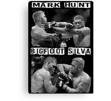 Mark Hunt Vs Bigfoot Silva Canvas Print