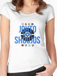 Johto Before Shoujos (Black) Women's Fitted Scoop T-Shirt