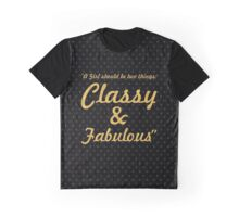 """A girl shoud be two things: classy & fabulous """"Coco Chanel"""" Inspirational Quote Graphic T-Shirt"""