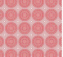 Bright Red Circle Pattern by pjwuebker