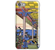 'Scene in Blue' by Katsushika Hokusai (Reproduction) iPhone Case/Skin