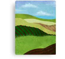 Fields And Farms Under A Summer Sky Canvas Print