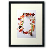 Vegetables Parade Framed Print