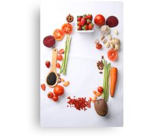 Vegetables Parade Canvas Print