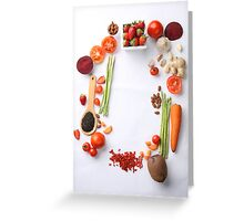 Vegetables Parade Greeting Card