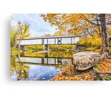 Covered Bridge Over Sugar Creek Canvas Print