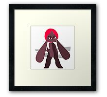 red bunny ninja Framed Print