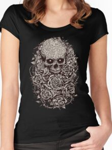 Skull & Roses Women's Fitted Scoop T-Shirt
