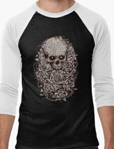 Skull & Roses Men's Baseball ¾ T-Shirt