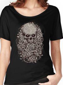 Skull & Roses Women's Relaxed Fit T-Shirt
