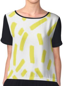 Chartreuse Strokes - Brightly Spring Chiffon Top