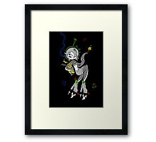 Retro Space Octopus by Lolita Tequila  Framed Print