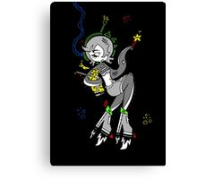 Retro Space Octopus by Lolita Tequila  Canvas Print
