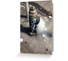 Frozen Hydrant Greeting Card