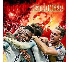 England Poster - Together Stronger Photographic Print