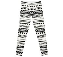Black and white aztec Leggings