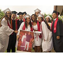 Kahuku Girls Posing with Poster Photographic Print