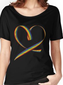 Pride Heart Ribbon Women's Relaxed Fit T-Shirt