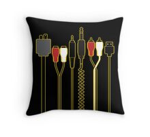 DJ WIRES Throw Pillow