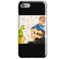 Ed Sheeran and Kermit the Frog Color Splash  iPhone Case/Skin