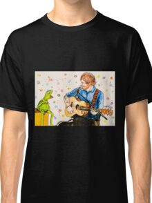 Ed Sheeran and Kermit the Frog Color Splash  Classic T-Shirt