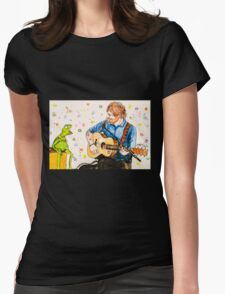 Ed Sheeran and Kermit the Frog Color Splash  Womens Fitted T-Shirt