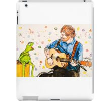 Ed Sheeran and Kermit the Frog Color Splash  iPad Case/Skin