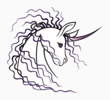 Ki-Rin (Japanese Unicorn) - Purple by Jennifer Doneske