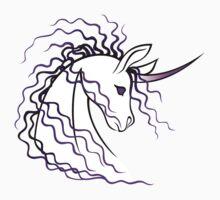 Ki-Rin (Japanese Unicorn) - Purple by Jennifer Doneske