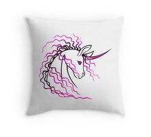Ki-Rin (Japanese Unicorn) - Pink Throw Pillow