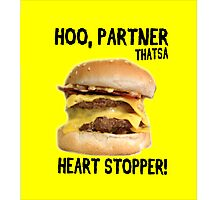 Hoo, Partner That's a Heart Stopper! Photographic Print