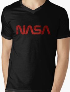 NASA Vintage Emblem 1975-1992 Mens V-Neck T-Shirt