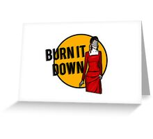 Shosanna Burns it Down Greeting Card
