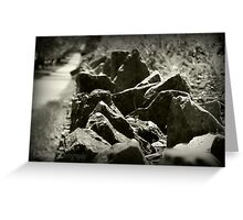 Rocky Flower Bed Greeting Card