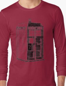 Tardis Word Art Long Sleeve T-Shirt