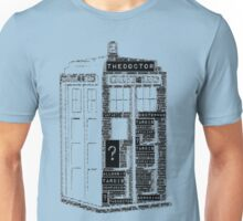 Tardis Word Art Unisex T-Shirt