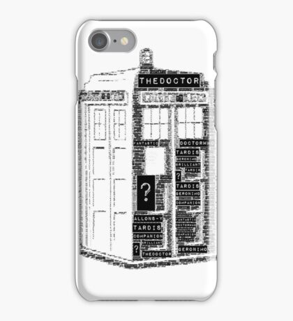 Tardis Word Art iPhone Case/Skin
