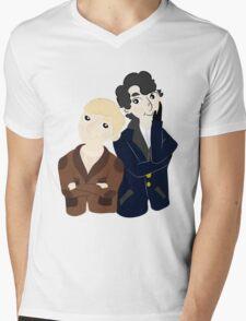 John and Sherlock  Mens V-Neck T-Shirt