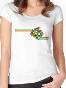 Impossible Rubiks Cube Women's Fitted Scoop T-Shirt