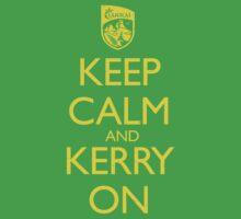 Keep Calm & Kerry On (grunge) Kids Tee