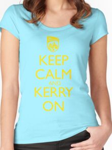 Keep Calm & Kerry On (grunge) Women's Fitted Scoop T-Shirt