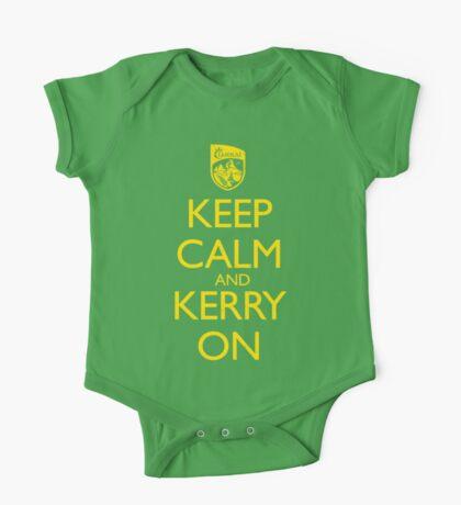 Keep Calm & Kerry On (grunge) One Piece - Short Sleeve